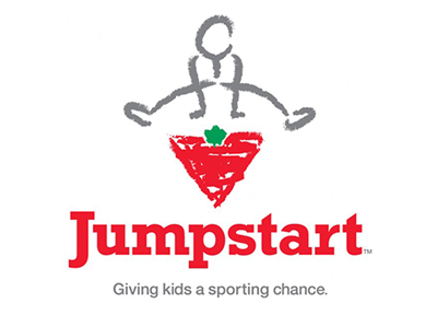 "Canadian Tire Jumpstart Logo ""Giving Kids a Sporting Chance"""