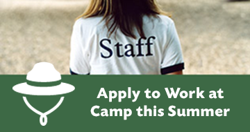 Apply to work at Camp this Summer button