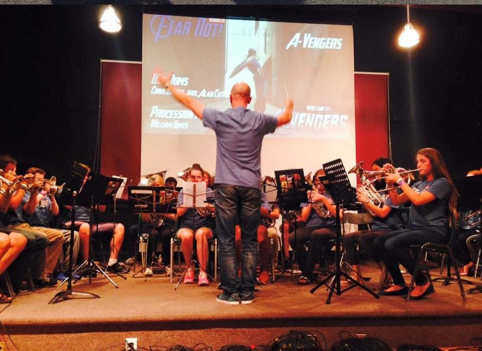 The SMC A Band performs at the final concert
