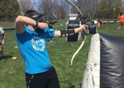 Teen Playing Archery Tag