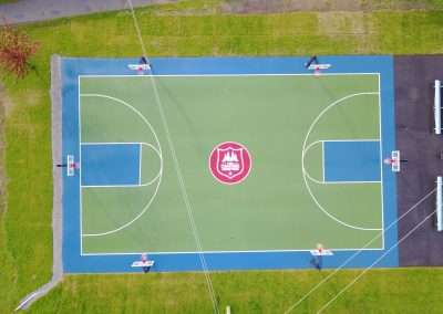 Aerial View of the Jackson's Point Basketball Court