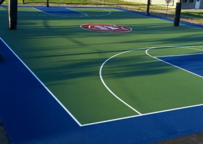 The Jackson's Point outdoor basketball court
