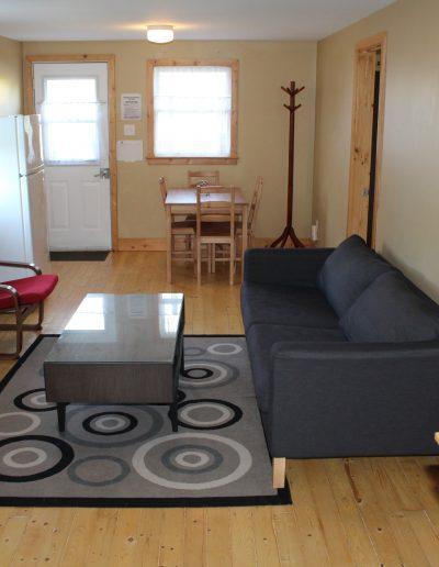 Huron Cottage Interior Living Room and Kitchenette