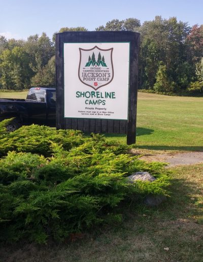 Sign at the Shoreline Entrance