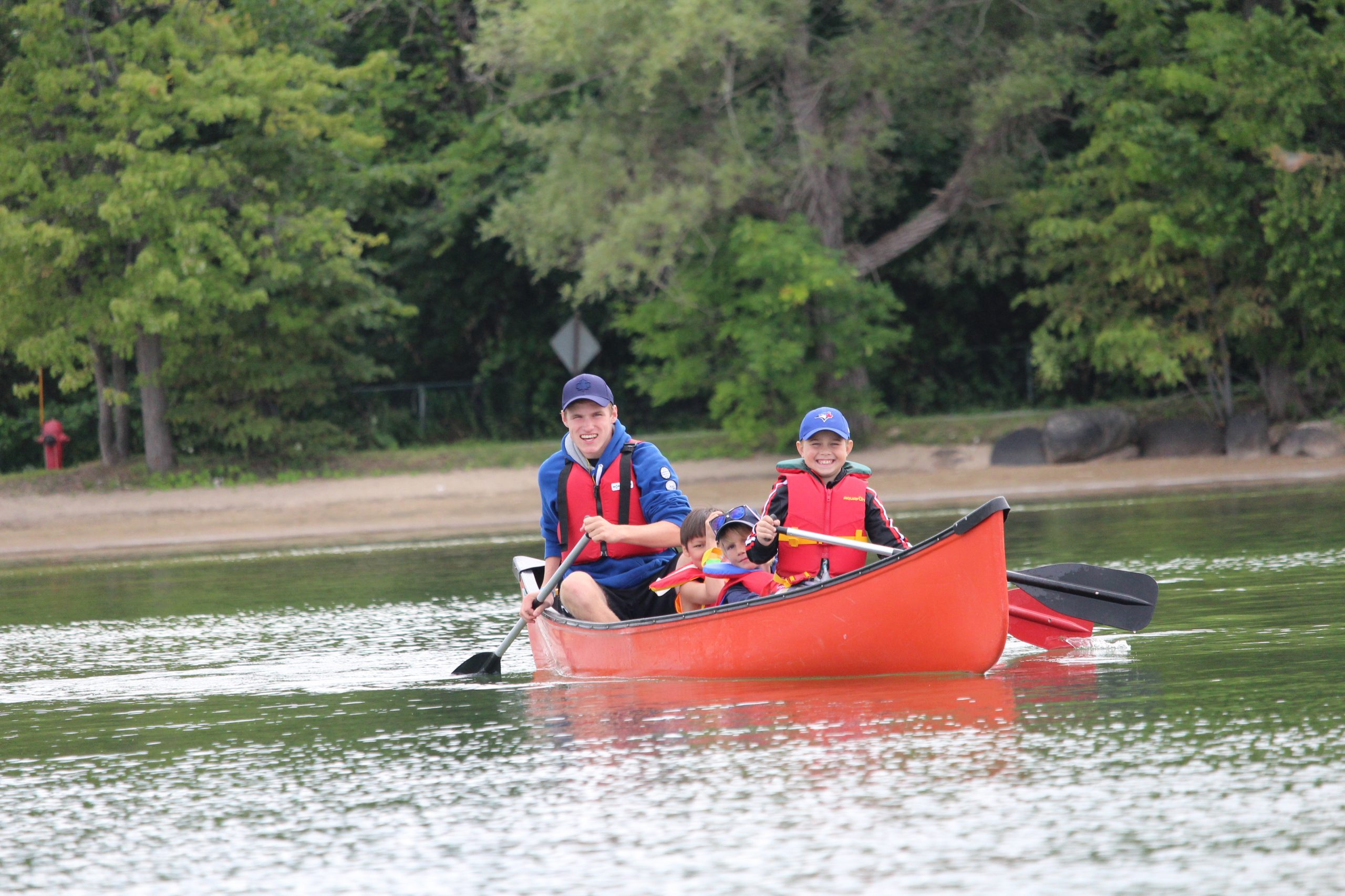 Boys canoeing