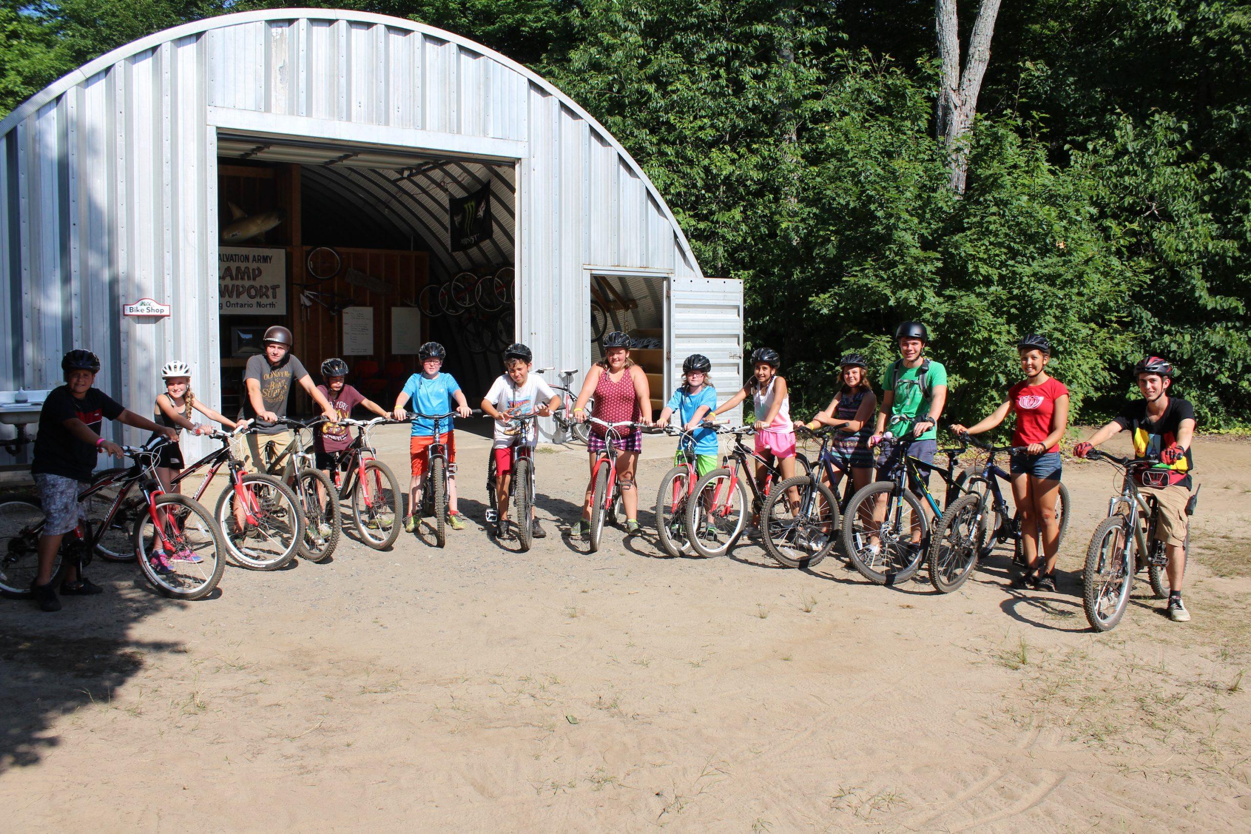 biking at newport