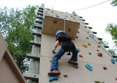 Outdoor Climbing Wall - School activities